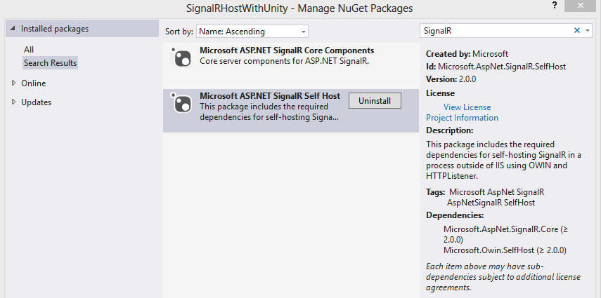 Using SignalR with Unity   Software Engineering