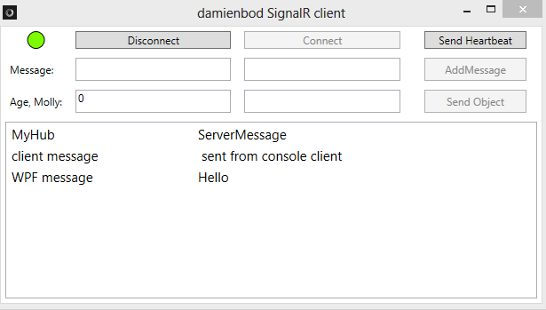 SignalR A complete WPF client using MVVM | Software Engineering
