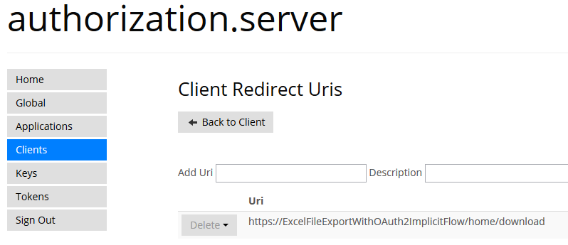 Web API 2 Excel File Export With OAuth2 Implicit Flow