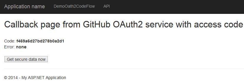 Web API GitHub OAuth2 Code Flow | Software Engineering