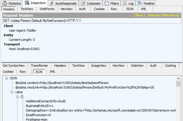 Web API and OData V4 Queries, Functions and Attribute