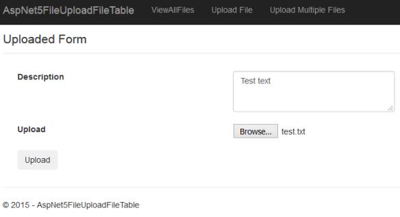 ASP NET Core 2 2 MVC File Upload with MS SQL SERVER