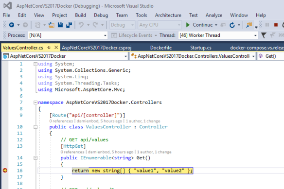 Creating an ASP NET Core 1 1 VS2017 Docker application   Software