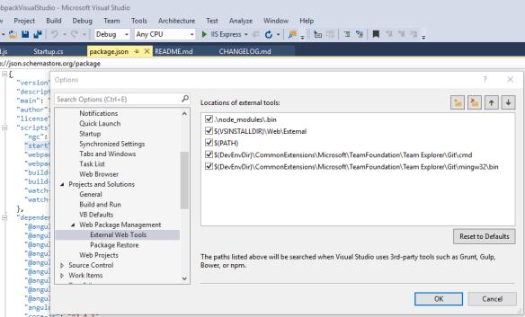 Building production ready Angular apps with Visual Studio and ASP