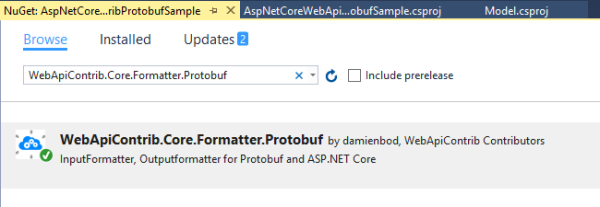Using Protobuf Media Formatters with ASP NET Core   Software
