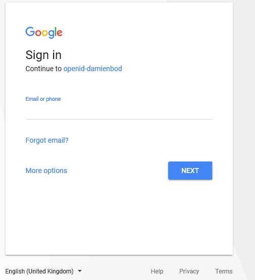 Angular OIDC OAuth2 client with Google Identity Platform
