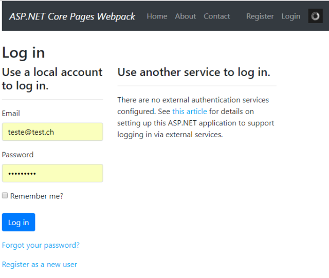 Updating ASP NET Core Identity to use Bootstrap 4 | Software