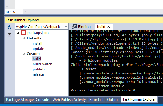 An ASP NET Core Razor Pages Bootstrap 4 Application using Webpack