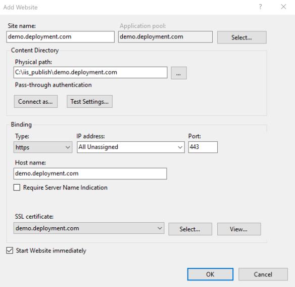 Deploying an ASP NET Core application to Windows IIS