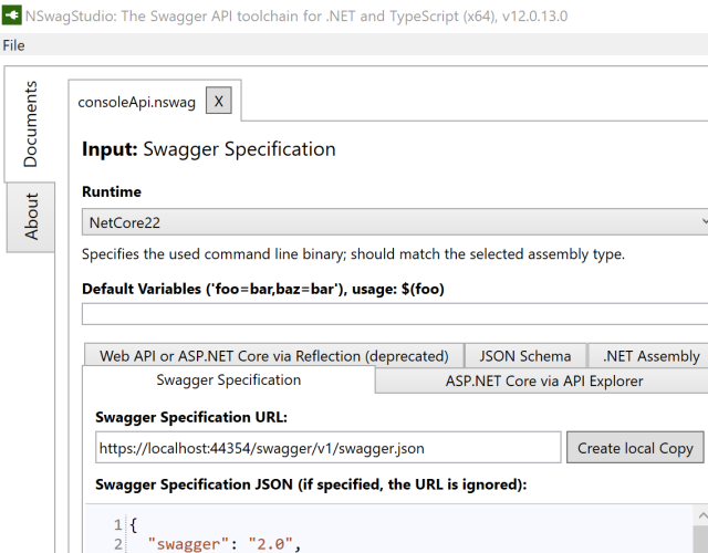 Auto Generated  NET API Clients using NSwag and Swashbuckle Swagger