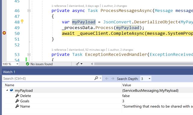 Using Azure Service Bus Queues with ASP NET Core Services