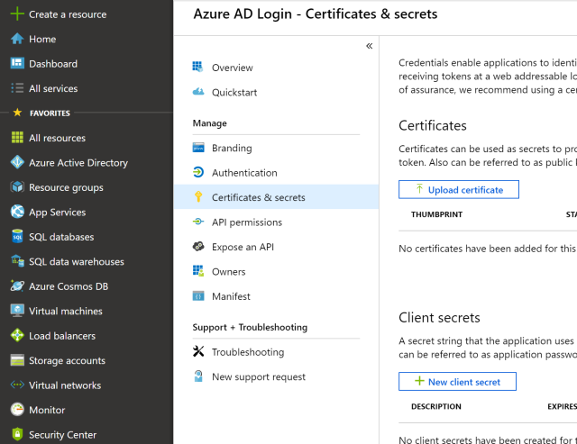 Updating Microsoft Account Logins in ASP NET Core with