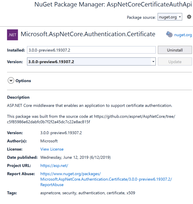 Certificate Authentication in ASP NET Core 3 0   Software