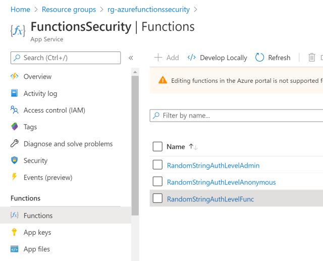 Securing Azure Functions using API Keys