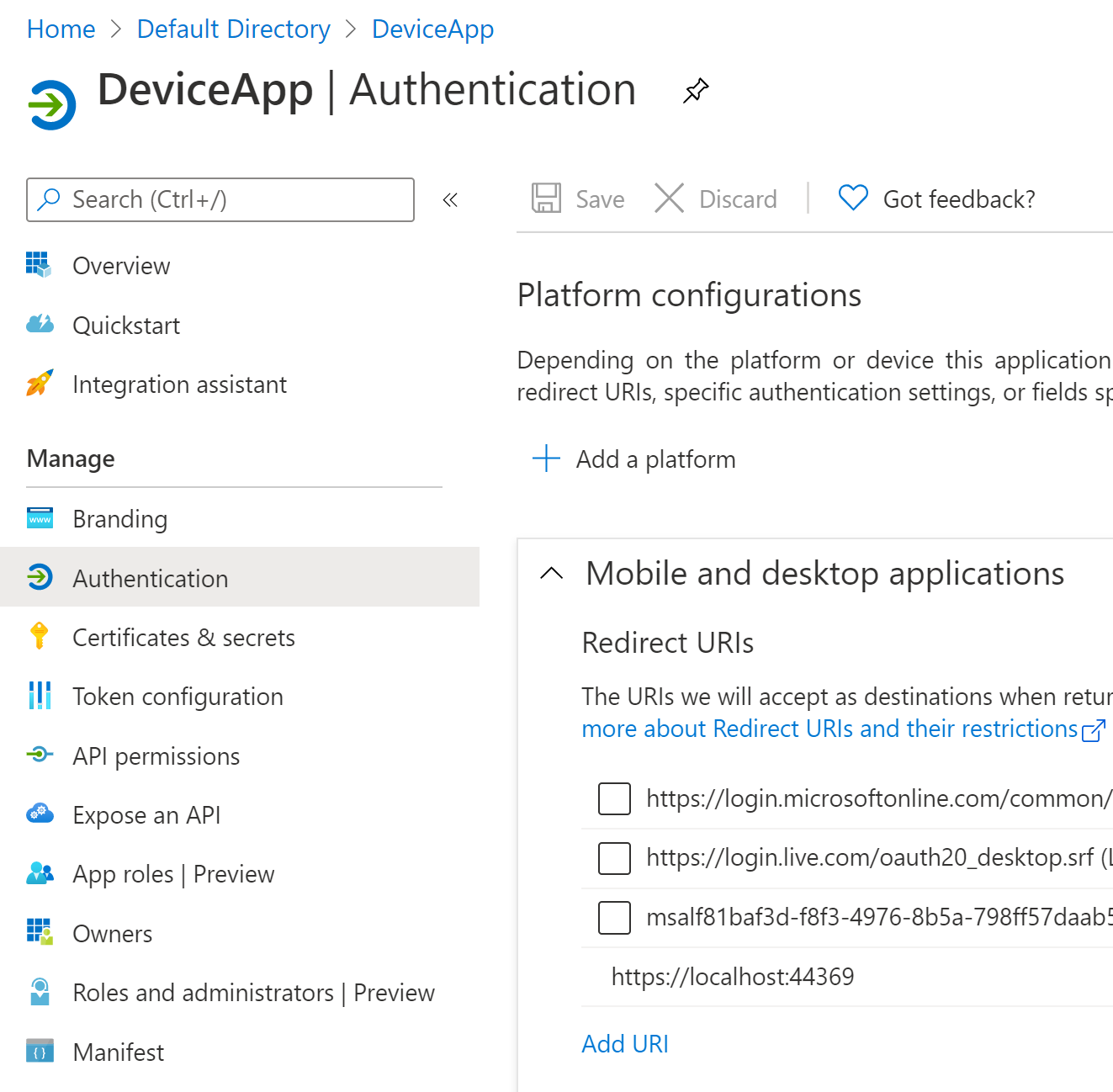 Implement OAUTH Device Code Flow with Azure AD and ASP.NET Core